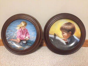 KNOWLES COLLECTIBLE PLATES WITH  NICE  FRAME FOR SALE