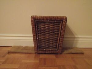 Wicker garbage basket - very well made
