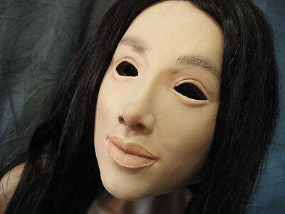 Gummimaske LILLY  v2  - Weibliche Maske Latex Crossdresser Frauengesicht Sissy