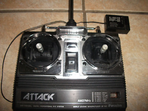 Old school Futaba Attack 2 stick radio and receiver