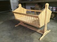 Classic wooden bassinet/ crib swing sleeper & have newer one