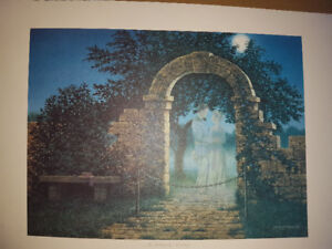 Paper Print for sale Gardens-James Lumbers-An Enchanted Evening