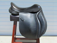 Frank Baines/Balance Black English Leather Dressage Saddle