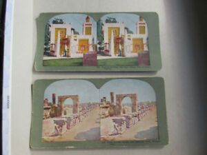 Stereoscope viewing cards - Pompeii Italy & City of Algiers