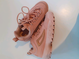 Rose Gold Disrupter Fila trainers - EXCELLENT CONDITION