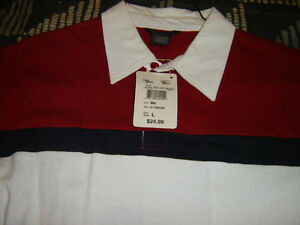 """BRAND NEW WITH TAGS MENS LARGE """"MIND GLOBAL"""" GOLF SHIRT 3 COLOUR London Ontario image 1"""