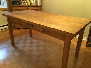 Grand bureau/ table en bois