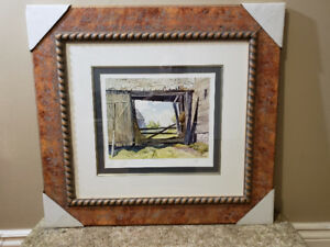 A.J Casson (Group of 7) Barn at Baptiste - signed limited print