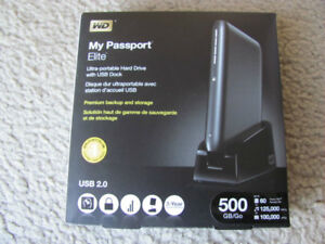 WD - My Passport Elite 500GB External USB 2.0 Portable Hard Driv