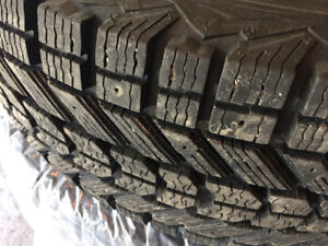 Winter Tires on Rims-P235/70R16-Used 2 Winters
