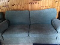 Free - large green 4 seater comfy sofa and matching chair