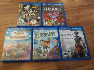 OG Black PS Vita -w/ Games