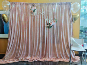 Party Rentals: Backdrop Stands | Satin & Sequins Drapes & More!