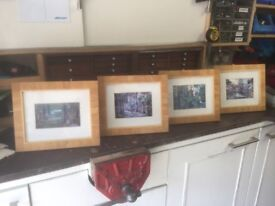 """4 x high quality framed pictures A1 condition 12 x10 """""""