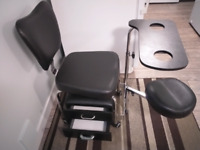EXCELLENT CONDITION BUILT-IN PEDI/MANI STATION AND STOOL