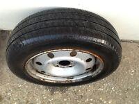 Renault kangoo rim and tyre 165/70/14