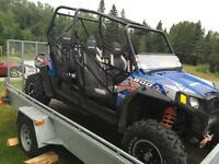 Polaris Razor ATV Side by Side with Trailor and Plow