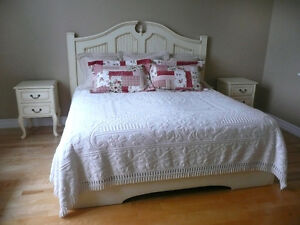 King Sized Headboard, Night Tables, Bench