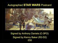 Autographed STAR WARS Widescreen Postcard