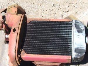 Radiateur avec support de l essieux