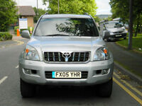2005 05 TOYOTA LAND CRUISER 3.0 D-4D LC5 5DR WITH SATNAV+LEATHER+SUNROOF++