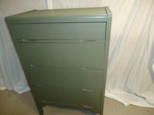 #36 Small 4 Drawer Wood Dresser, Tall
