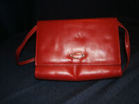 Red Calrelli Leather Purse and Vinatage Items to View
