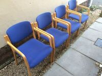 4x stacking office chairs