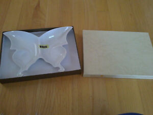 Brand new in box decorative white butterfly candy tray dish London Ontario image 1