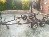 Twin axle trailer chassis