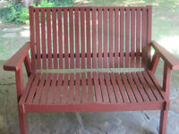 Redwood Bench Very good condition