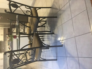 Brand new Dinning se with four chairs for sale.