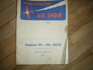 Niagara International Air Show 1976 official Program airplane