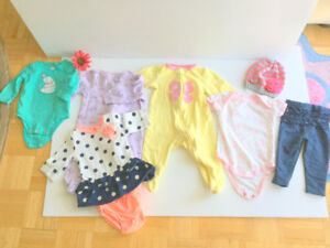 Baby Girl Clothes (3-6 m.) (6 pc.) Cute Dress, FREE Hat, Jumpers