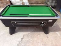 COIN OPERATED POOL TABLE 6X3 FT