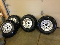4 bolt fourwheeler tires and rims