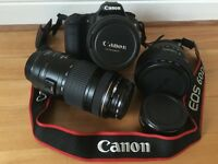 Canon EOS 60D 18.0 MP Digital SLR Camera - Bundle with Lenses.