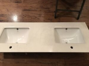60 inch Vanity Marble Top - Brand New