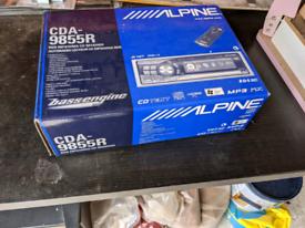 Alpine Car CD and Radio