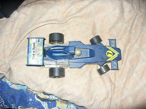Tandy Radio Shake Blue Car .rear 1970's or 60's Formula One race
