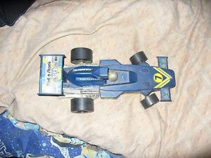 Tandy Radio Shake Blue Car .rear 1970's or 60's Formula One race