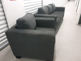 Free Delivery Grey 3 Seater and Armchair