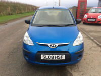 2008 08 Hyundai i10 1.1 Classic Petrol 5 Door Blue NEW MOT WITH CAR.