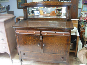 Antique Tiger Oak Sideboard Cambridge Kitchener Area image 1