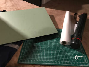 Drafting Board, Cutting Mat, Trace Paper + Drawing Carrying Case
