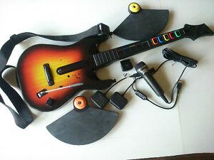 Guitar Hero Rock Band equipment