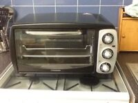 COOKWORKS SIGNATURE MINI OVEN - BLACK - MINT CONDITION!
