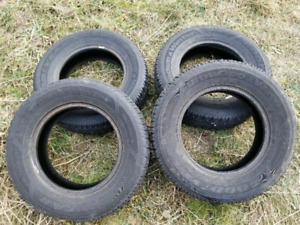 205/70/R15 GOODYEAR STUDDED WINTER TIRES