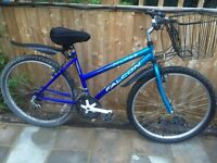 """Ladies 18"""" Falcon bicycle. New lights & basket. D lock available. Free delivery"""