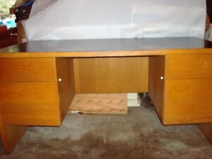 Oak Large Vintage Desk